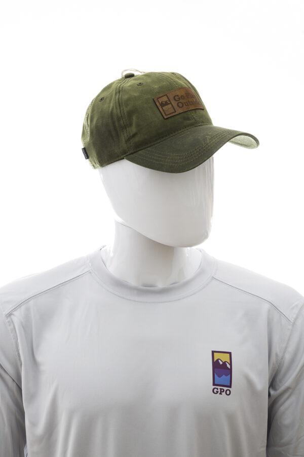 GPO Waxed Cotton Hat Dark Olive